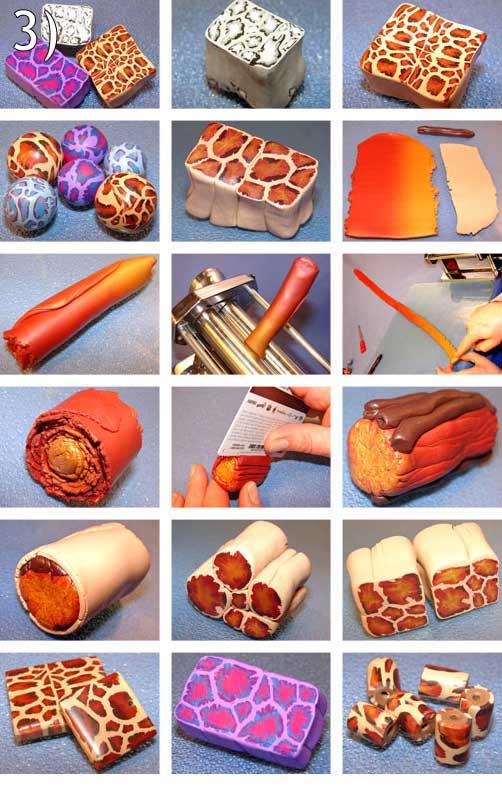 Как из пластики сделать узор на